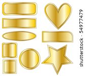 beautiful golden metal vector... | Shutterstock .eps vector #54977479