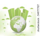 money globe vector illustration ... | Shutterstock .eps vector #54977707