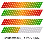 loading bar  progress level... | Shutterstock .eps vector #549777532