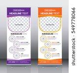 roll up banner template design... | Shutterstock .eps vector #549778066