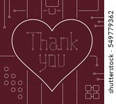 thank you day greeting card.... | Shutterstock .eps vector #549779362