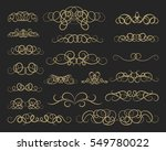 vintage decor elements and... | Shutterstock . vector #549780022