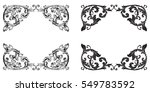 baroque set of vintage elements ... | Shutterstock .eps vector #549783592