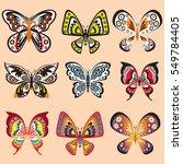 butterfly set in vector | Shutterstock .eps vector #549784405