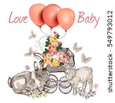 baby fashion greeting card with ...   Shutterstock .eps vector #549793012