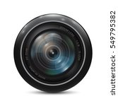 camera photo lens on a white... | Shutterstock .eps vector #549795382