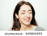 woman laughing | Shutterstock . vector #549804595