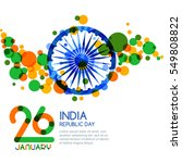 26 of january  india republic... | Shutterstock .eps vector #549808822