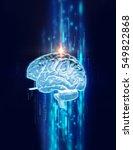 3d rendering of human  brain on ... | Shutterstock . vector #549822868