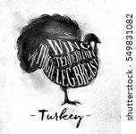 poster turkey cutting scheme... | Shutterstock .eps vector #549831082