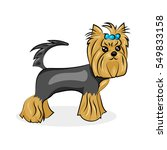 cartoon cute vector yorkshire... | Shutterstock .eps vector #549833158