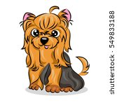 cartoon cute vector yorkshire... | Shutterstock .eps vector #549833188