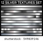 vector set of silver gradients  ... | Shutterstock .eps vector #549839146