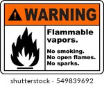 warning sign flammable vapors... | Shutterstock .eps vector #549839692