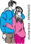 romantic couple kissing... | Shutterstock .eps vector #549846652