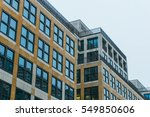 modern office buildings with... | Shutterstock . vector #549850606