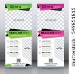 roll up banner template design... | Shutterstock .eps vector #549851815