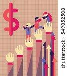 a team of businesspeople climb... | Shutterstock .eps vector #549852508