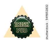 color vintage irish pub emblem | Shutterstock .eps vector #549852832