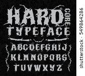 hardcore typeface. stylish... | Shutterstock .eps vector #549864286