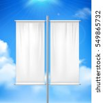 white blank realistic double... | Shutterstock .eps vector #549865732