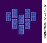 relationship tarot spread.... | Shutterstock .eps vector #549878242