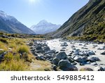 Aoraki/Mount Cook Viewed From Hooker Valley Track in the Morning, New Zealand