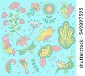 floral background pattern.... | Shutterstock . vector #549897595