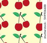 seamless cherry pattern....   Shutterstock . vector #549906688
