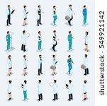 set trendy isometric people.... | Shutterstock .eps vector #549921142