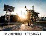 man playing basketball | Shutterstock . vector #549926326