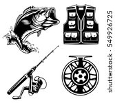 fishing set of bass  jacket ... | Shutterstock .eps vector #549926725