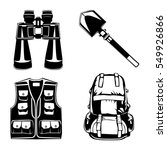 camping set of back pack ... | Shutterstock .eps vector #549926866