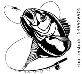 bass fish. perch fishing vector ... | Shutterstock .eps vector #549926905