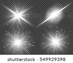 transparent sunlight lens flare ... | Shutterstock .eps vector #549929398