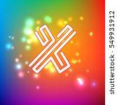 color dynamic symbol for logo ... | Shutterstock .eps vector #549931912