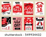 collection of winter sale... | Shutterstock .eps vector #549934432