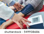 measuring blood pressure...   Shutterstock . vector #549938686