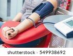 measuring blood pressure... | Shutterstock . vector #549938692