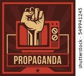 television propaganda poster ... | Shutterstock .eps vector #549941245