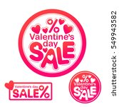 vector picture with hearts.... | Shutterstock .eps vector #549943582