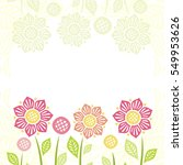 beautiful floral background.... | Shutterstock .eps vector #549953626