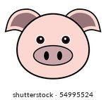 Pig Face Free Vector Art 3206 Free Downloads