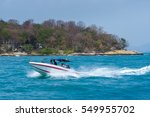 speed boat in the sea with... | Shutterstock . vector #549955702