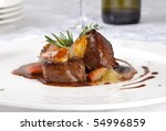hot meat dishes fillet of beef... | Shutterstock . vector #54996859