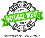 natural meat. stamp. sticker.... | Shutterstock .eps vector #549969586