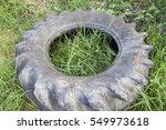 Tire Old In The Field Thailand