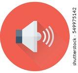 speaker vector icon | Shutterstock .eps vector #549975142