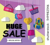 huge sale banner  vector... | Shutterstock .eps vector #549982546
