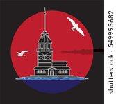 maiden tower vector.   Shutterstock .eps vector #549993682